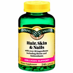 Best vitamins for hair growth - Spring Valley - Hair, Skin & Nails, Biotin-Collagen-Gelatin