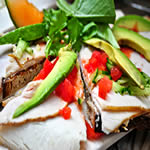 Healthy Recipes For Rapid Weight Loss - Turkey slices with avocados image
