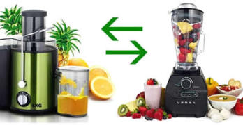 Benefits of juicing - juicer vs blender image