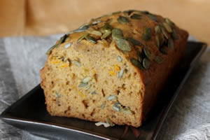 Healthy pumpkin recipes - Pumpkin bread image