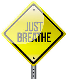 How to stop worrying - Just Breathe sign post image