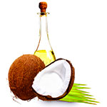 Hot oil treatment against dandruff - coconut oil image