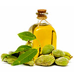 Hot oil treatment against dandruff - sweet almond oil image