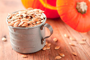 Pumpkin Recipes For Breakfast - roasted pumpkin seeds image